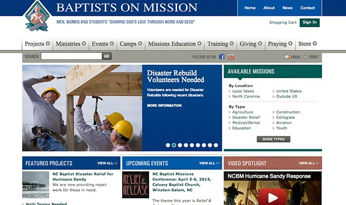 Baptist Men Website