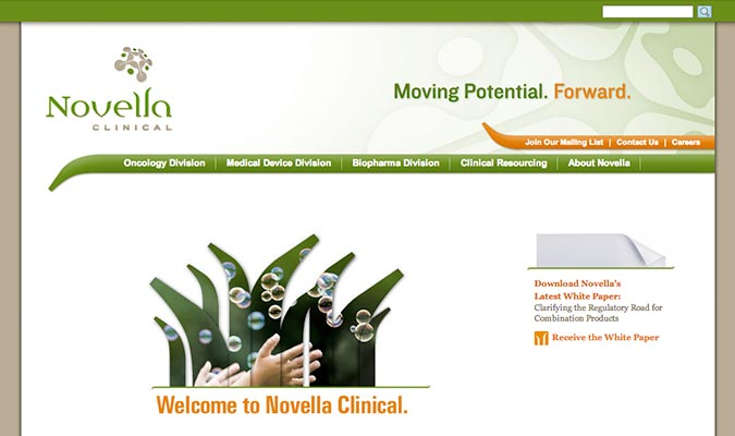 Novella Clinical Website